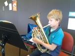 Jacob playing baritone.