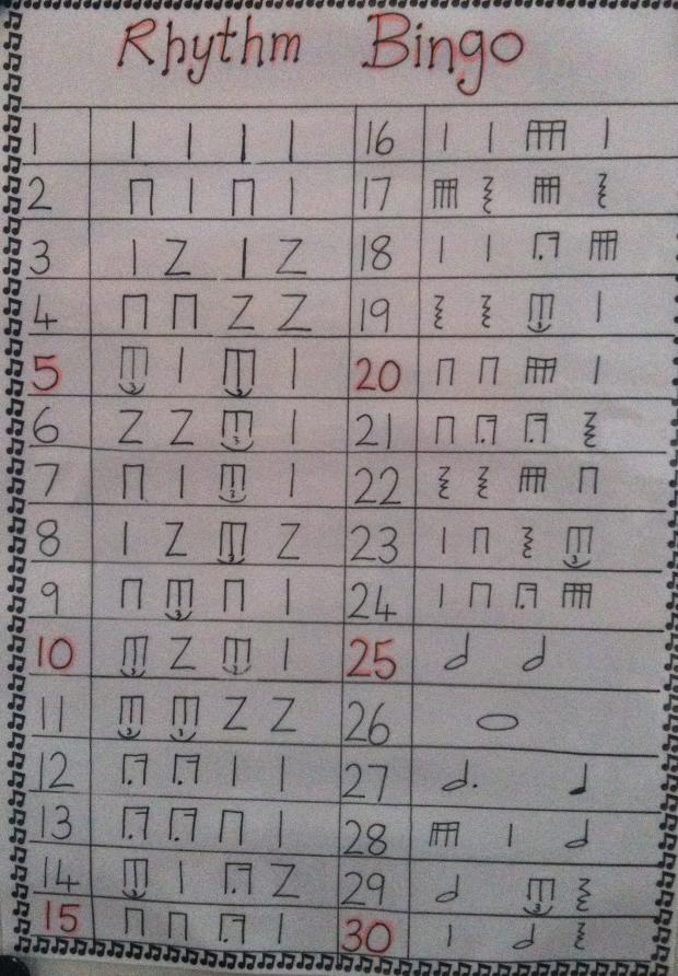 Rhythm Bingo